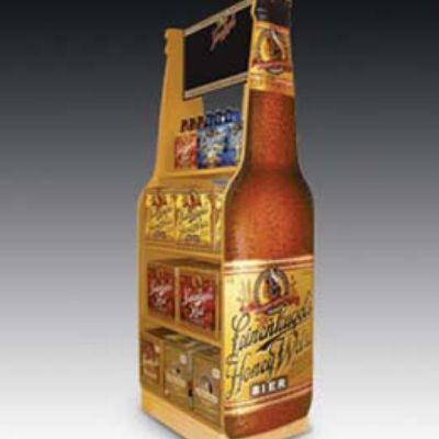 Permanent End Cap Wooden Custom Merchandised area- How to merchandise craft beer through floor display