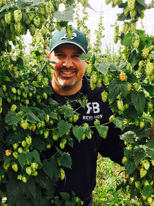 Revision Brewing Company's brewmaster and CEO Warren